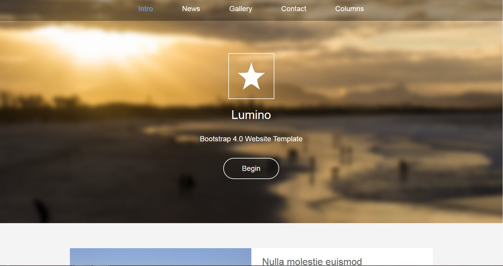 Lumino Theme with on page editing snapshot